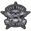 1st. Tygmärke DÖDSKALLE LIVE FREE  223x210mm